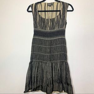 Adrianna Papell sz 4 black/tan party dress
